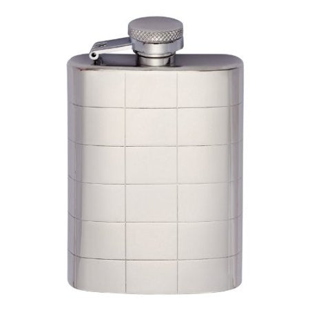 Polished Chequered Hip Flask - Just4ugifts Limited - 1