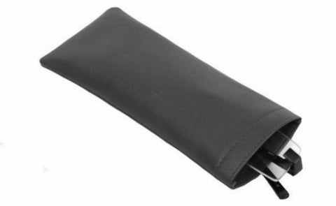 Slim Black Leather Glasses Case - Just4ugifts Limited