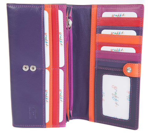 Golunski Large Multi Coloured Wallet Purse - Just4ugifts Limited - 1