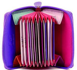 Leather Pink Zipped Purse Wallet - Just4ugifts Limited - 1