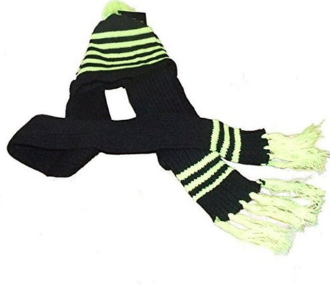 Hat Scarf Knitted Combo Yellow - Just4ugifts Limited