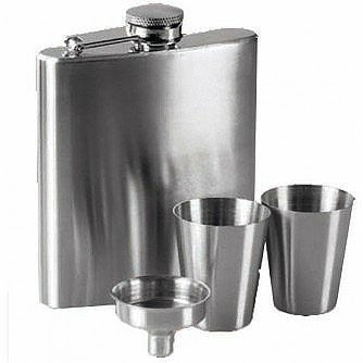 6oz Hip Flask Cups Funnel Set - Just4ugifts Limited - 1