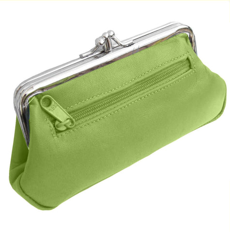 Lime Pouchy Clip Top Coin Purse - Just4ugifts Limited - 1