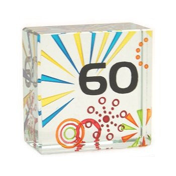 60th Birthday Glass Cube - Just4ugifts Limited - 1