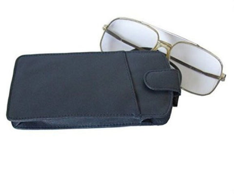 Navy Blue Leather Glasses Case - Just4ugifts Limited