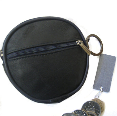 Leather Clip Top Coin Purse Boxed
