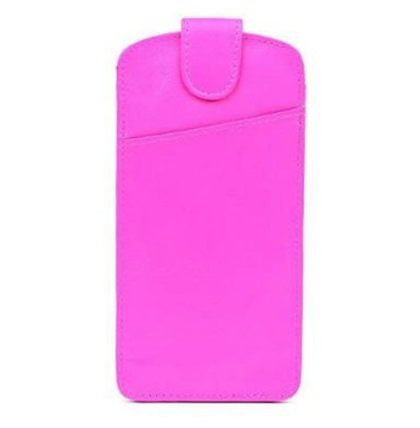 Bright Pink Leather Glasses Case - Just4ugifts Limited