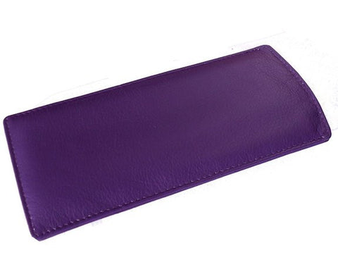Purple Slim Soft Leather Spectacle Case - Just4ugifts Limited