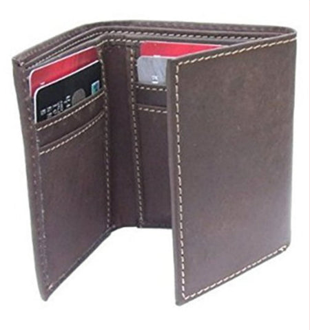 Quality Slim Soft Leather Distressed Brown - Just4ugifts Limited - 1