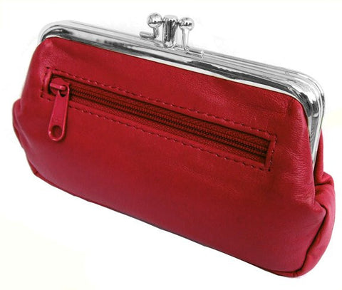 Red Pouchy Clip Top Coin Purse - Just4ugifts Limited