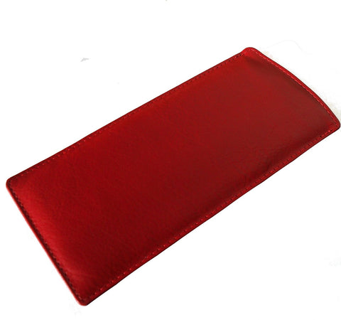 Red Slim Soft Leather Spectacle Case - Just4ugifts Limited - 1