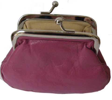 Clip Top Leather Pouch Coin Purse - Just4ugifts Limited - 1