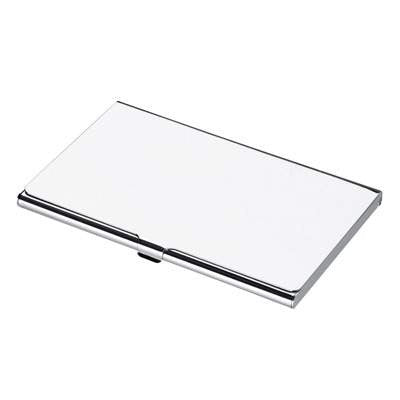 Polished Silver Business Card Case - Just4ugifts Limited - 1