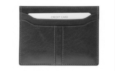 Black Slim Credit Card Holder - Just4ugifts Limited