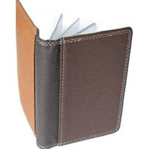 Brown Tan Leather Credit Card Holder - Just4ugifts Limited - 1