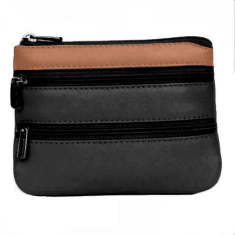 Soft Touch Leather Zip Compartment Purse - Just4ugifts Limited