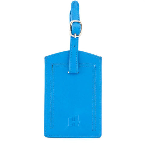 Blue Leather Luggage ID Tag - Just4ugifts Limited