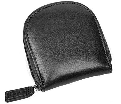 Horseshoe Leather Zipped Coin Purse - Just4ugifts Limited - 1