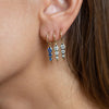 Myer Single Triple Drop Earring in Rose Gold with Diamonds.