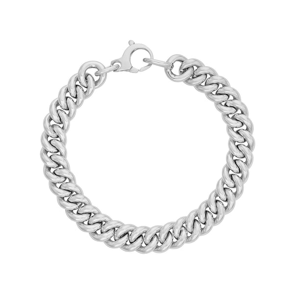 Chain Bracelet in White Gold.