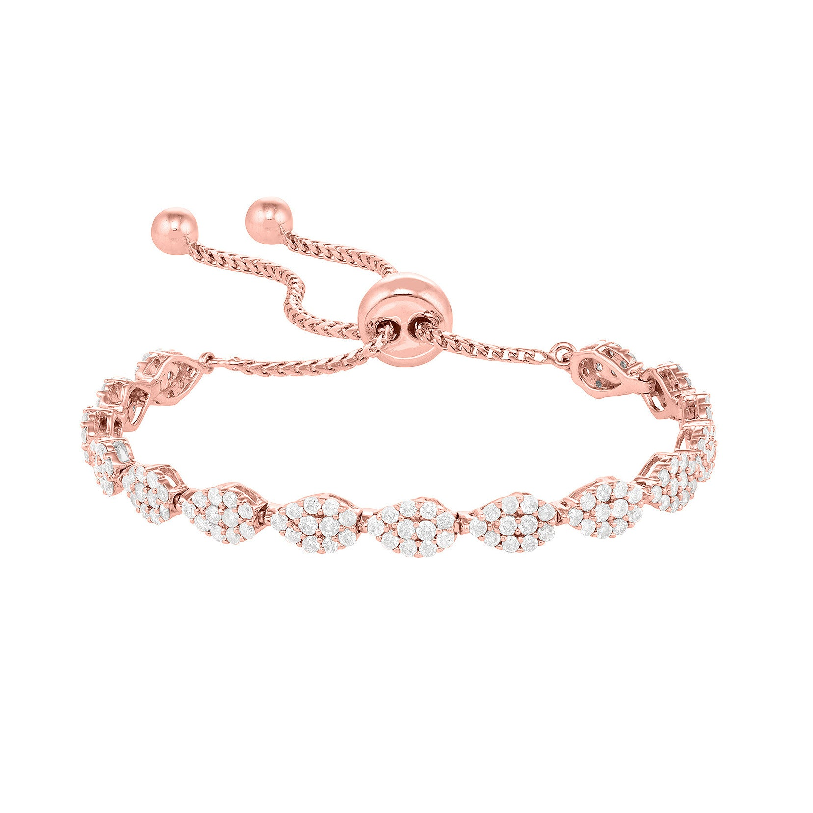 Orin Pear Shaped Diamond Flexible and Adjustable Bracelet