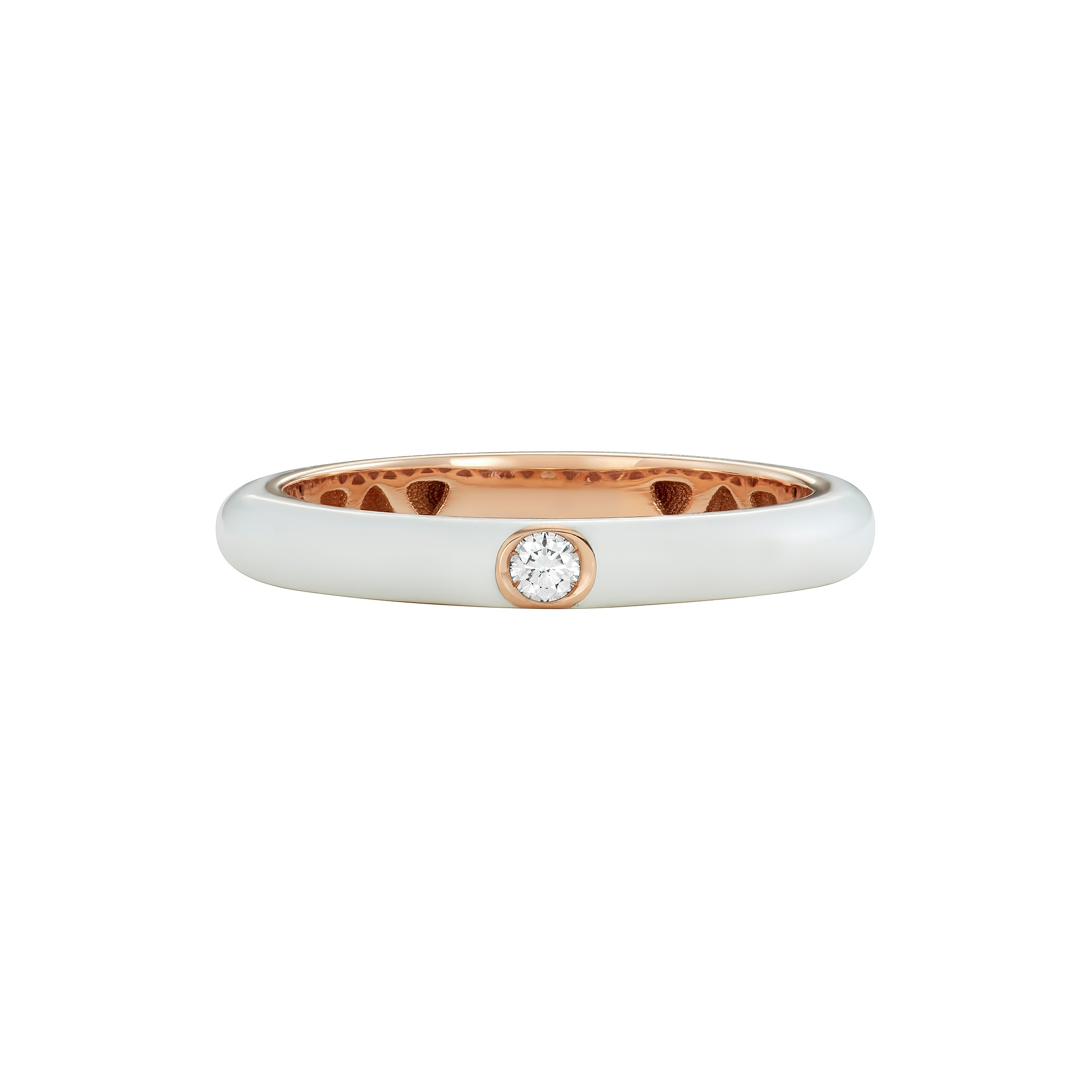 Fede Single Diamond Enamel Ring