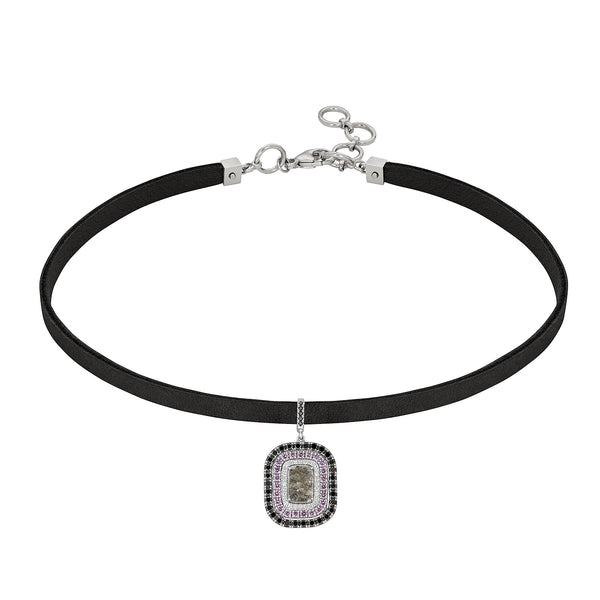 Fiona Emerald Cut Slice Choker
