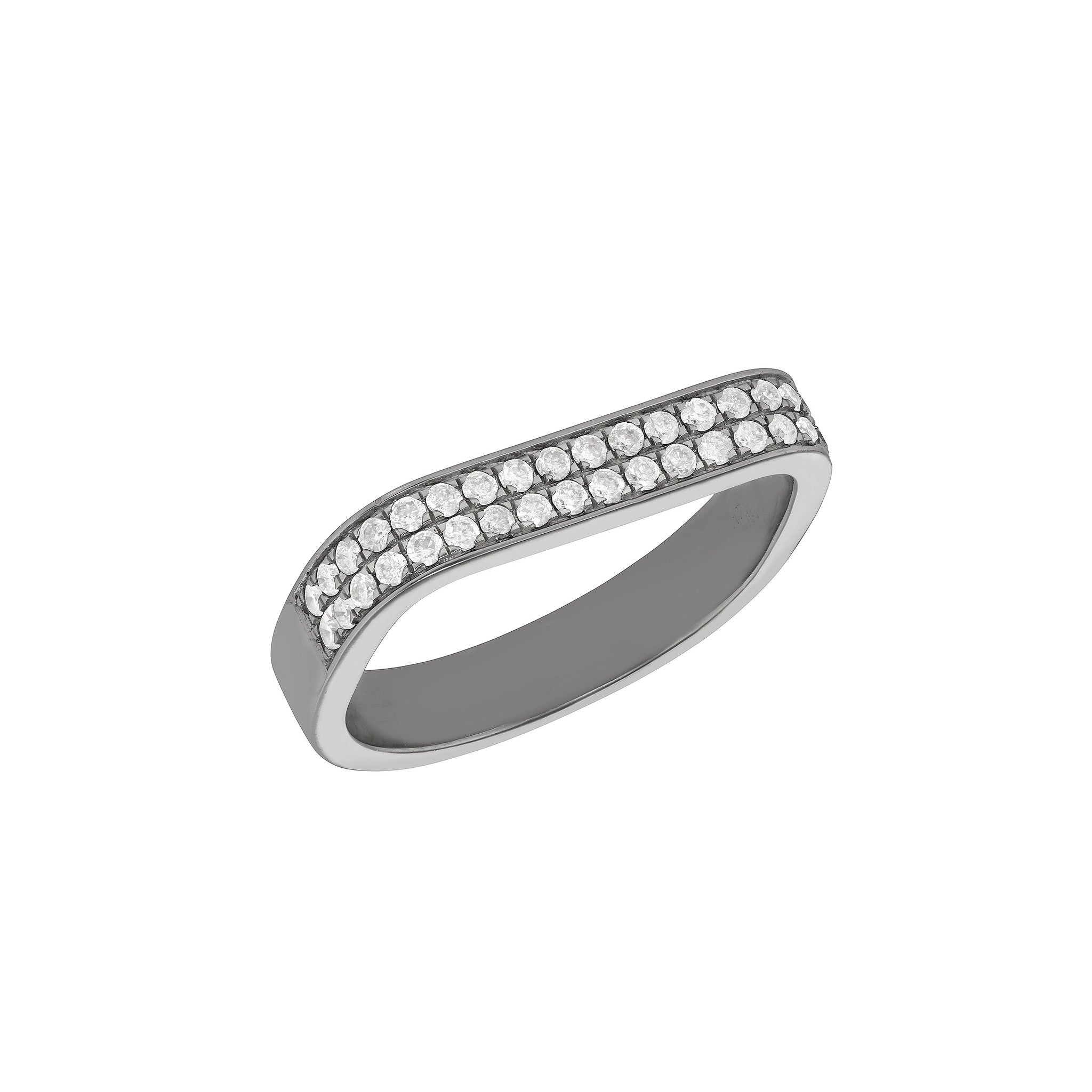 Signature Double Square Ring