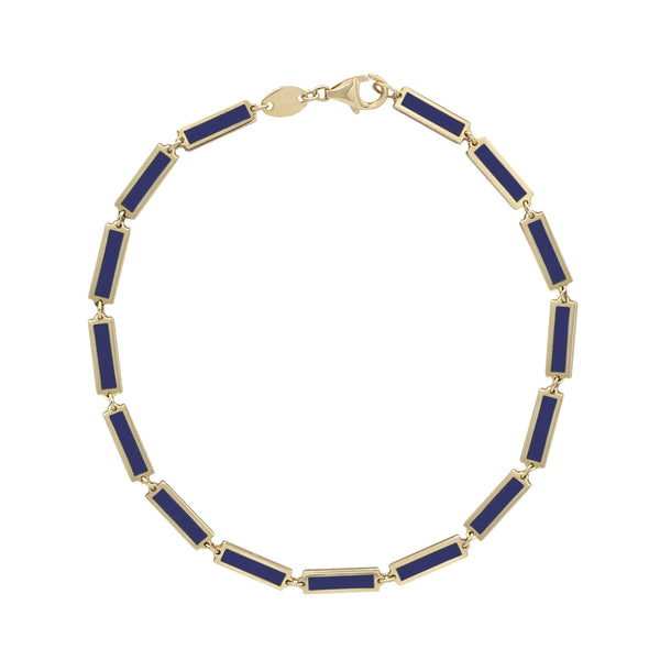 lapis bracelet set in yellow gold