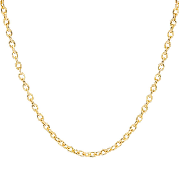 yellow gold small link chain necklace