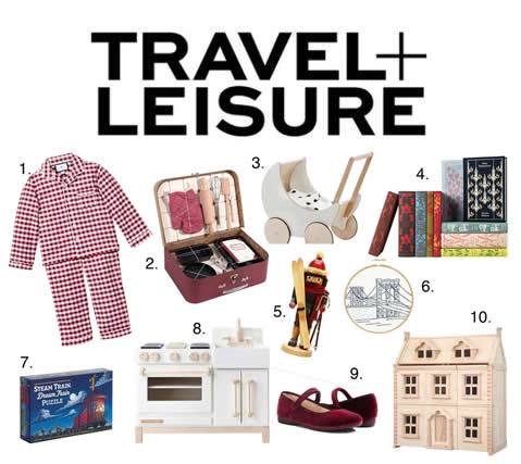 "Our Gingham Pajamas are featured in Travel+ Leisure's ""This Season's 52 Cutest Gifts for Children"""
