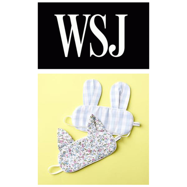 Petite Plume Sleep Masks Featured in WSJ Article