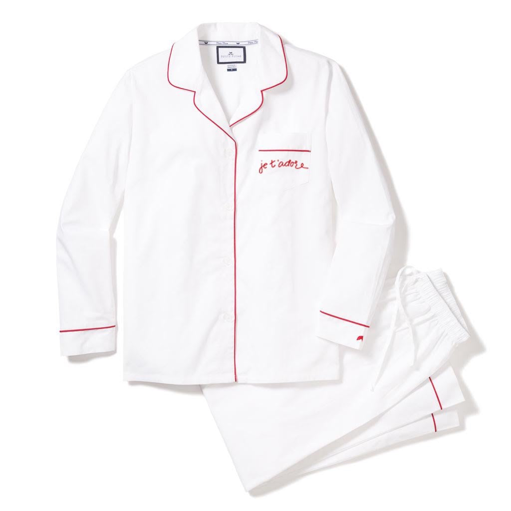 Maisonette Exclusive.       Je t'adore Adults Valentines Pajama Set