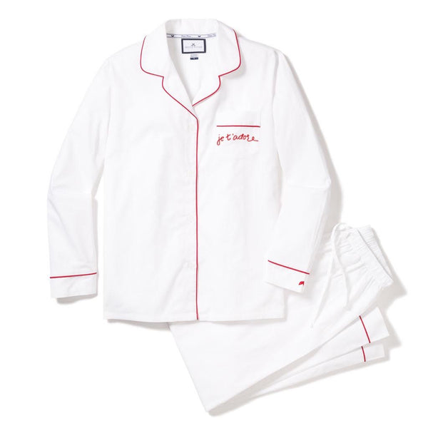 Women's Maisonette Exclusive. Je t'adore Valentines Pajama Set