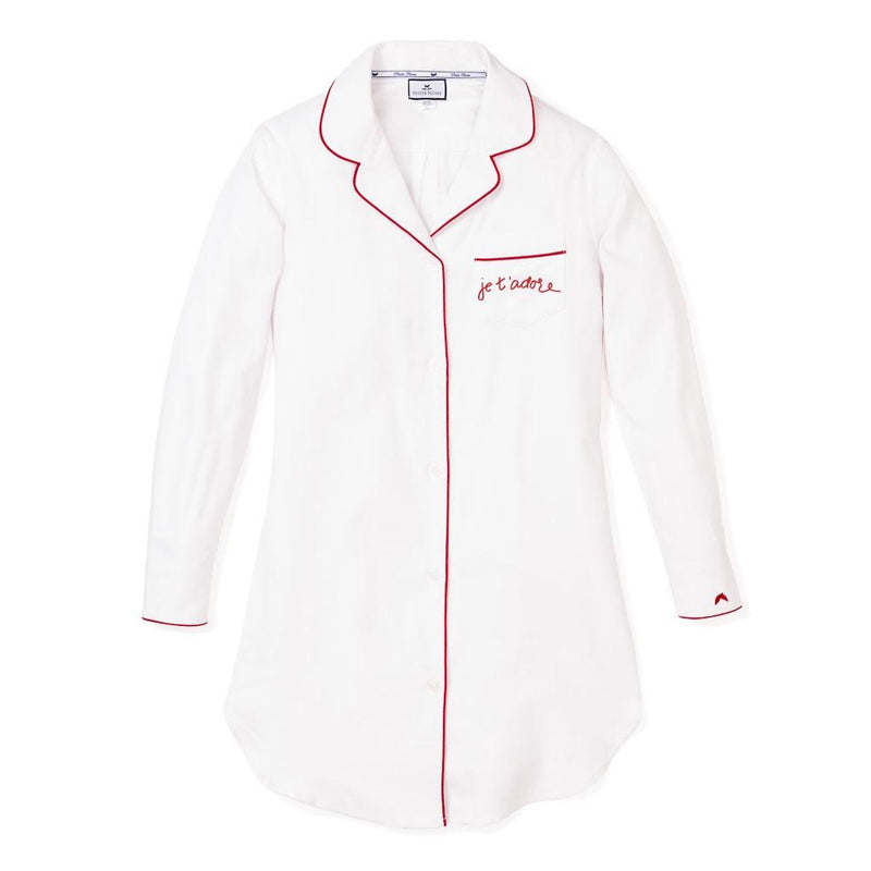 Maisonette Exclusive.         Je t'adore Womens Valentines Nightshirt