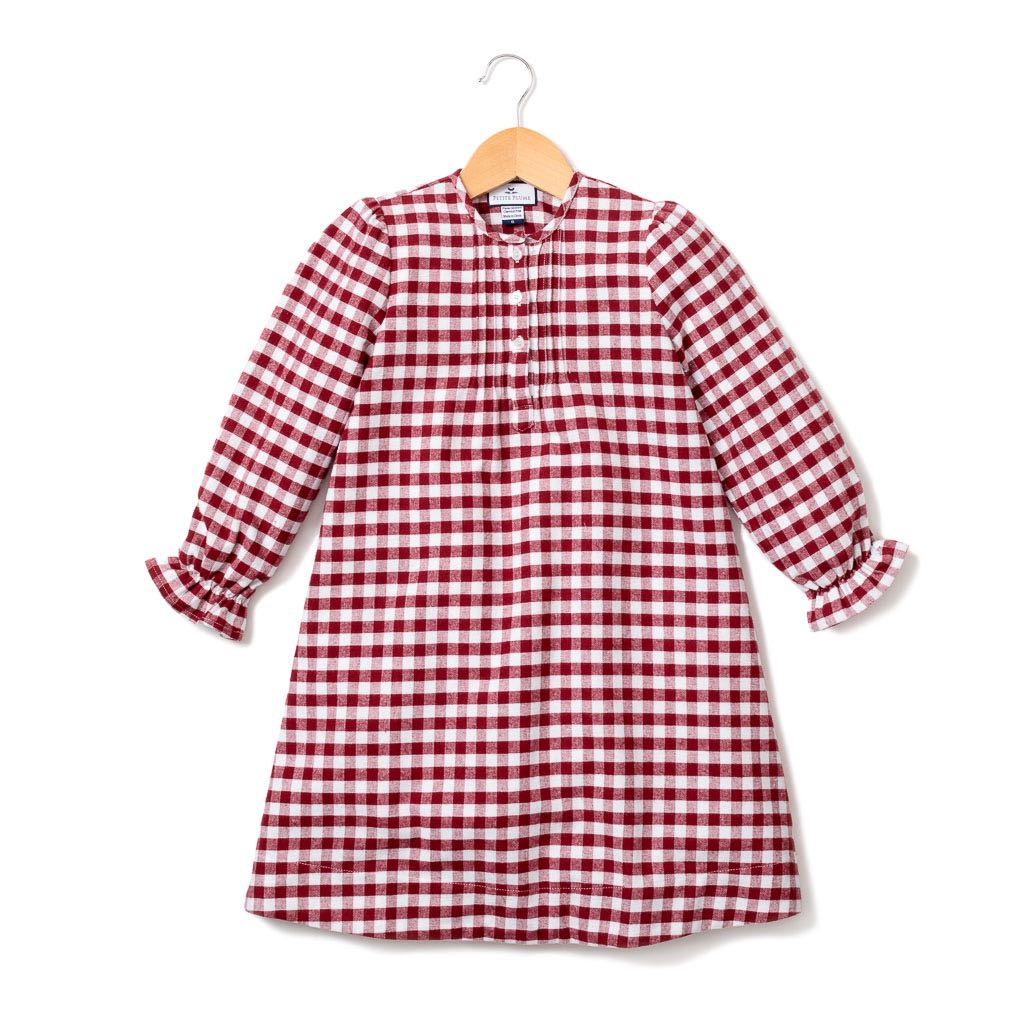 Red Garnet Flannel Beatrice Nightgown – Petite Plume
