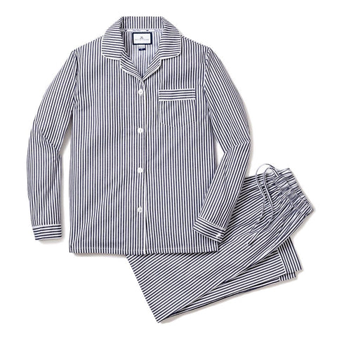 Adult Navy Bengal Striped Twill Classic Pajamas