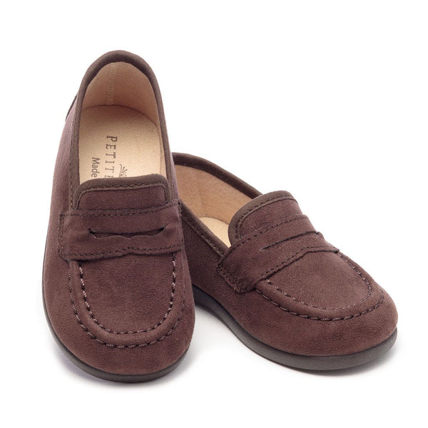 The George Slipper in Brown Suede