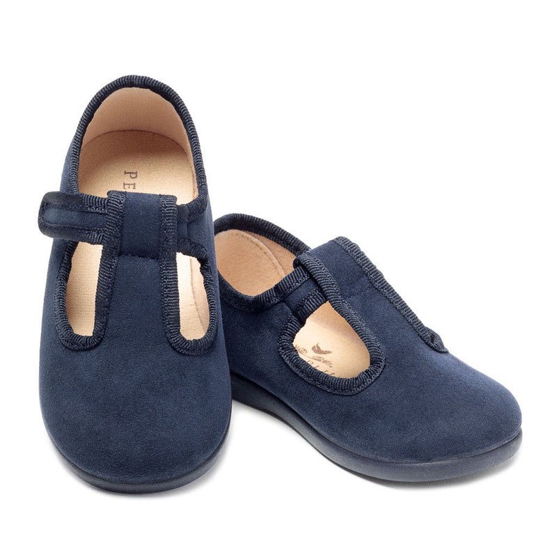 The Everly Slipper in Navy Suede