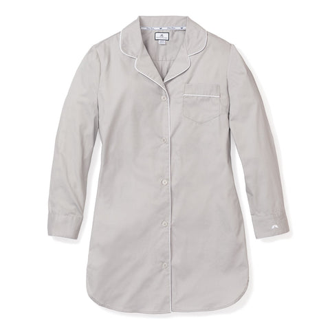 Women's Nightshirt in Grey Twill