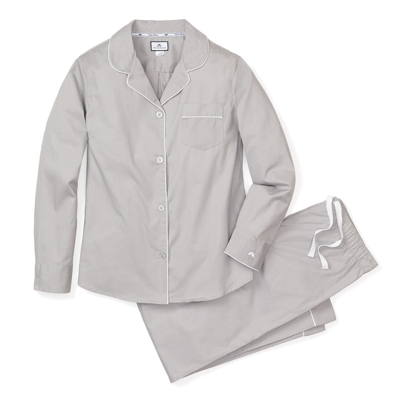 Classic Adult Pajama Set in Grey Twill