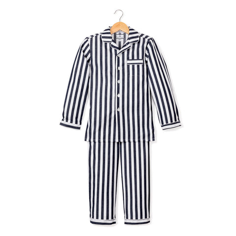 Navy Modern Striped Pajama Set