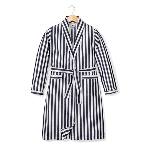 Navy Modern Striped Robe