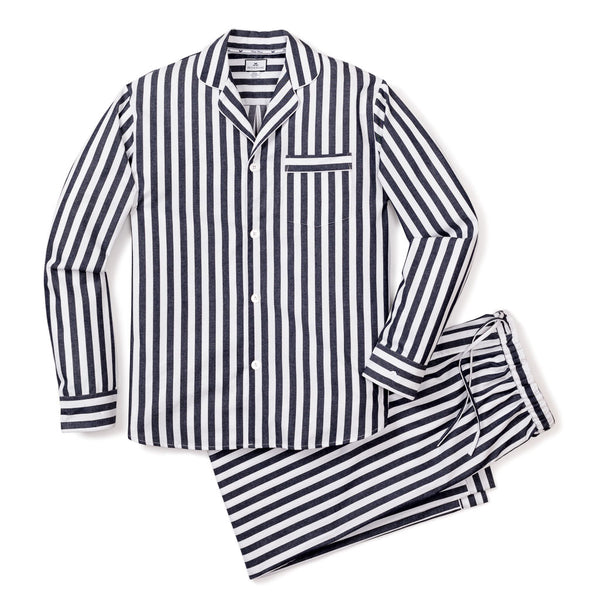 Women's Navy Modern Striped Pajama Set