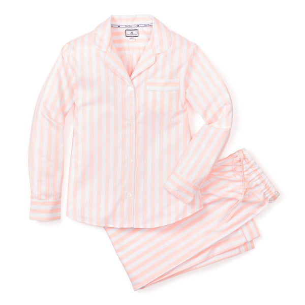 Women's Coral Modern Striped Pajama Set
