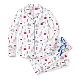 Adult's London is Calling design long sleeve Pajama Set