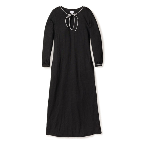 Women's Luxe Pima Cotton Dark Heather Long Nightgown