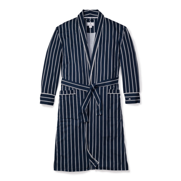 Men's Grant Pinstripe Luxe Pima Cotton Robe