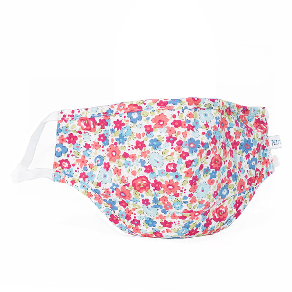 Bordeaux Fields Floral Face Mask