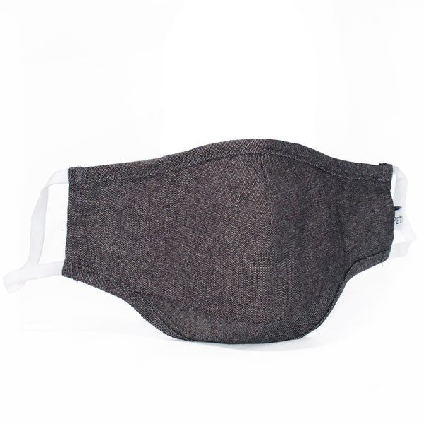 Charcoal Oxford Face Mask